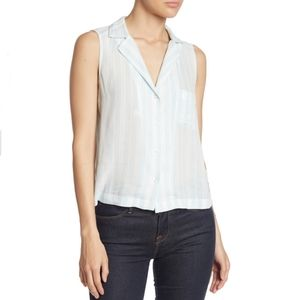 Abound Blue Leona Striped Front Camp Shirt